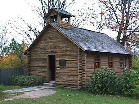 Small log cabin - Old Mission Church
